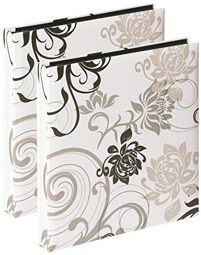 Walther - Album fotografico con tasche, mod. Grindy, bianco, Confezione da 2, 400 foto, 10x15 cm