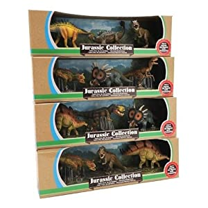 Globo Toys Globo 37415 - Juego de 4 Dinosaurios de 15 a 20 cm (3 Piezas)
