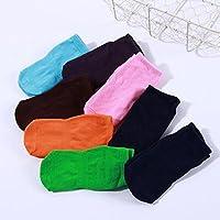 Drawihi 5 Pares Calcetines Largos para Bebé Niñas Niños Calcetines Antideslizantes para Bebés 1-4 Años(Azul oscuro)