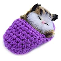 Pizies Lifelike Mini Sleeping Cat Doll Pocket Kitten In Wool Sliper Cute Table Ornaments