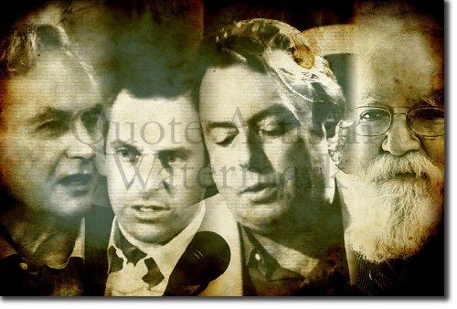 TPCK THE ATHEISTS UNSIGNED Kunstdruck Hochglanz Poster Geschenkartikel (Richard Dawkins, Christopher Hitchens, Sam H. - Maße: 60 x 40 cm