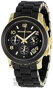 Reloj Michael Kors Para Mujer Con Pulsera Negra De Goma MK5191 de Michael Kors
