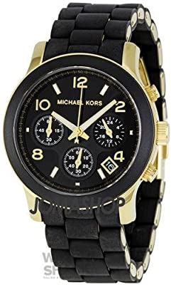 Reloj Michael Kors Para Mujer Con Pulsera Negra De Goma MK5191