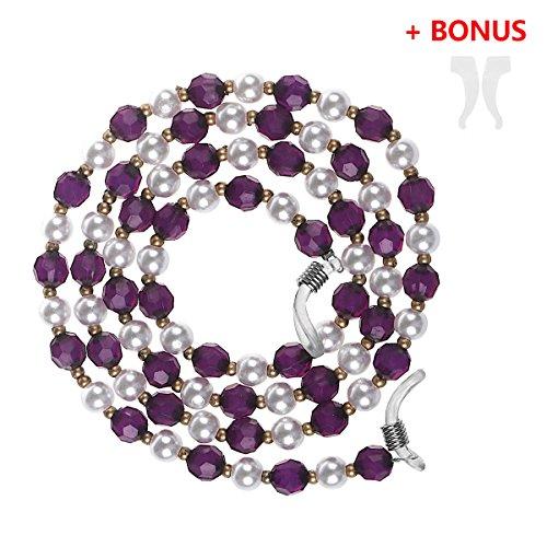 Preisvergleich Produktbild Xidan FM8 FM8 Frauen Perlen-Stil Brillen Perlenkette Halter Glassgurt Perlenkette