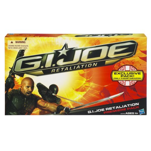 GI Joe Retaliation Premiere Pack mit den Figuren Roadblock, Snake Eyes, Storm Shadow und Cobra Commander von Hasbro