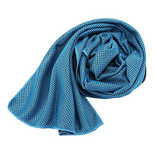 ihen-Tech Sport EIS Handtuch Dienstprogramm, das sofortige kühlende Gesichtstuch Hitze Entlastungs Kälte Mikrofaser Tuch Tuch aushält (Eis Angeln Handtuch)