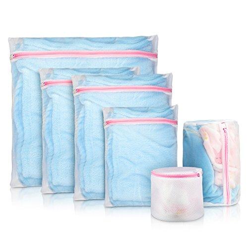 iTrunk Netz Wäschesäcke, Delikates Netz Waschbeutel 6er Set mit Reißverschluss Waschbeutel für Delikates BH Unterwäsche Schuhsocken Unterwäsche Waschmaschine Robust und wiederverwendbar