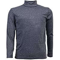 SODIAL(R) Moda para Hombre otono invierno de cuello alto sueter camisa patron puro Jersey Gris oscuro - XXL