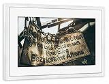 Gerahmt 60x40 cm Städte / Hamburg Altona Gerahmt weiß seidenmattes Premium-Fotopapier - Wandbild Städte / Hamburg Kunstdruck von Tino Wichmann