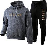 NFNF Tuta Intera per Uomo,Ragazzi Jordan 2 Pezzi Set Abbigliamento Sportivo Superiore E Inferiore,Classico Mor