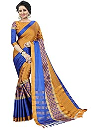 Sarees For Women Sarees New Collection Sarees For Women Latest Design Women's Mustard Blue Cotton Silk Saree With...