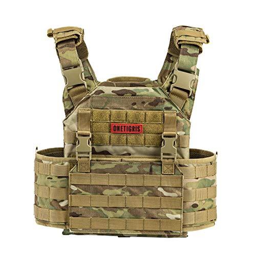 OneTigris PLPC Weste Taktische Carrier Weste Brustschützer für CS (Schwarz) |MEHRWEG Verpackung (MC - Verbesserte Version)