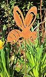 Unbekannt Gartenstecker Biene/Wespe 60cm Metall Rost Gartendeko Edelrost