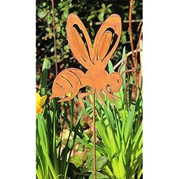 Gartenstecker Schmetterlinge Metall Rost rostige Gartendeko Edelrost Eisen