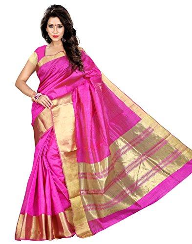 Roopkala Women Tassar Silk Saree (SV-1517,Pink)