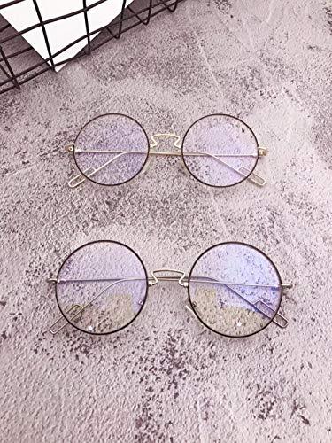 Myopie Brille Männer und Frauen Persönlichkeit Mode rundes Gesicht Brille rot flachen Spiegel Metall großen Rahmen Brille Myopie Brille -1