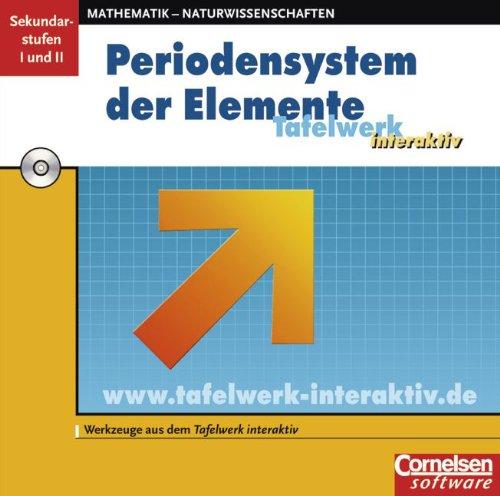 Bausteine Tafelwerk interaktiv. Chemie. Periodensystem der Elemente (PSE). CD-ROM für Win 98 SE, ME, 2000, XP.  (Lernmaterialien) (Chemie-bausteine)