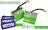 #2: Lithium-ion 4400 mAH battery 2 pack for Neato XV Series with 3 free HEPA filters