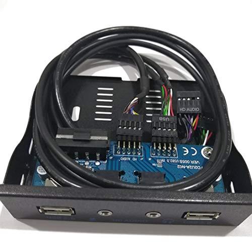 WEIHAN 3,5-Zoll-HUB-HD-Audioausgangs-Diskettenlaufwerkserweiterung mit 2 USB 2.0-Anschlüssen an der Vorderseite Digital Mobile Rack-Erweiterung für Ihren PC