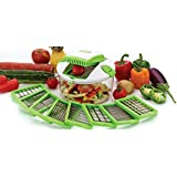 SARANGWARE 20 In 1 Vegetable & Fruit Cutter - Chopper, Dicer, Grater, Slicer - Kitchen Tools, With Airtight Unbreakable Container With Free Bag