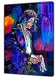Finale Performance Michael Jackson Foto-Druck auf Holzrahmen, Wandkunst, 16'' x 12'' inch(40x 30 cm) -18mm depth