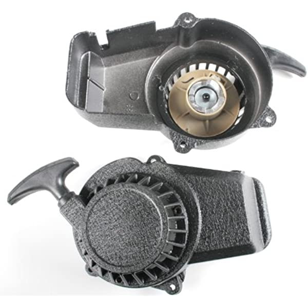 Seilzugstarter Aluminium Seilzug Starter Pullstarter Für Pocketbike 49cc Dirtbike Crossbike Mini Atv Quad Sport Freizeit