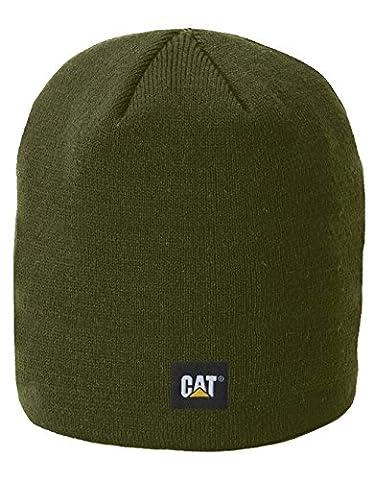 Caterpillar Men's Logo Knit Cap, Army Moss, One Size