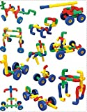#9: Happy GiftMart Wheel Pipe Design Building Construction Blocks Assembly Game Puzzle Kids Infant Toy