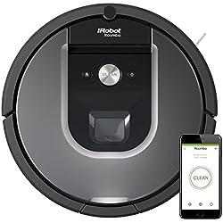 iRobot Roomba 960 Staubsaugroboter (fortschrittliche Reinigungsleistung, reinigt mehrere Räume, WLAN-Verbindung, ideal bei Tierhaaren) silber