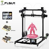 flsun Prusa i3Plus imprimante 3D, Configuration:Colour: Black Modèle: Metal Frame Reprap imprimante 3D Prusa i3 Caractéristiques: 1er Printing Taille: 300x 300x 420mm 2.3.2inch écran tactile 3. Integrated carte mère 4, Système double nuzzle...