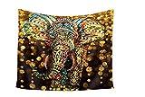 Chensang Elefant, Tapisserie, Wandteppich, Polyestergewebe Heimdekoration,149,9x 129,5cm, Elephant 16, 59 x 51 inch