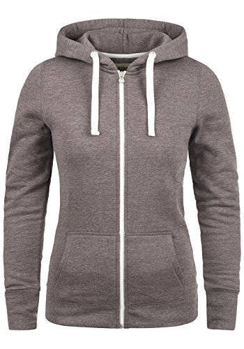 DESIRES Derby Zip Damen Sweatjacke Kapuzen-Jacke Zip-Hoodie mit Kapuze aus hochwertiger Baumwollmischung, Größe:XL, Farbe:Sparrow Mel (5710)