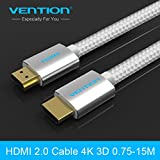 3m: Vention HDMI 2.0 Cable Gold-Plated 4K*2K 60Hz 1/1.5/2/3/5/8/10/15m For TV Blu-Ray Game-Box Roku Displayer PS3 Projector Computer