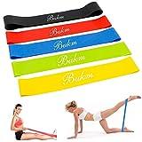 Fitnessbänder, Bukm Gymnastikbänder Set Widerstandsbänder Loops in 5 Zugkraftstärken Trainingsbänder für Yoga, Pilates, Reha