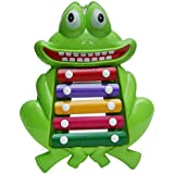 Wembley Toys Frog Xylophone On Wheels - Pull Along & Musical Toy For Kids