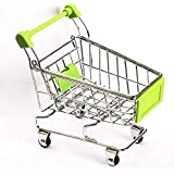 WHBLLC-Mini Supermarket Shopping Cart Pet Bird Parrot Hamster Toys Cart Parrot Trolley