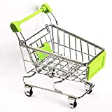 #4: WHBLLC-Mini Supermarket Shopping Cart Pet Bird Parrot Hamster Toys Cart Parrot Trolley