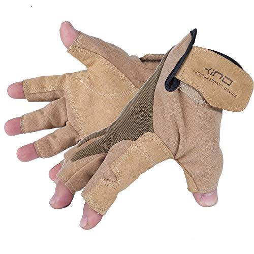 VBNM Kletter-Downhill-Handschuhe Handschuhe Abseilen Kabelhandschuhe Semi-Outdoor-Ausrüstung Verweist auf rutschfeste Lederhandschuhe XL Andere -
