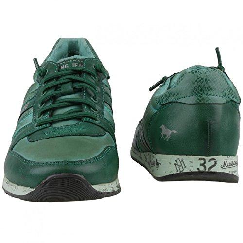 Mustang 4104-301, Sneakers basses homme Vert - Grün (Dunkelgrün 700)