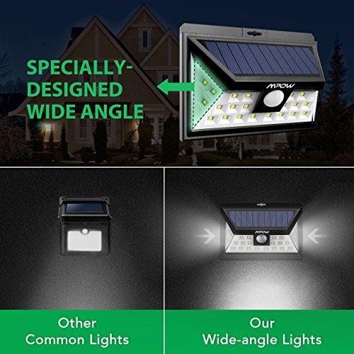 Mpow 24 LED Weitwinkel Solarleuchten, Bewegungs-Sensor-Licht für Garten - 4