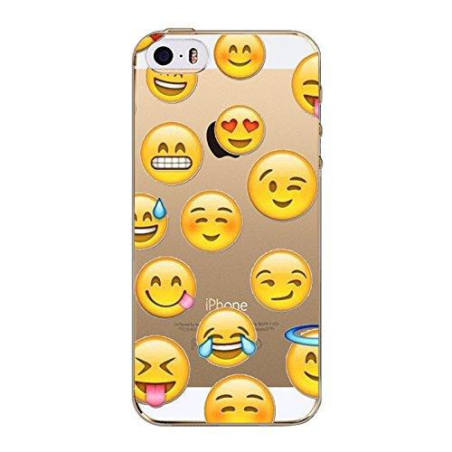Coque en Gel silicone souple pour iphone 5 , 5S et 5SE , modele smiley emoticon , singe rose , noeud rose 14 gros
