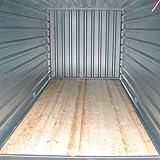 Container Baucontainer Schnellbaucontainer Lagercontainer Blechcontainer Materialcontainer 500cm x 220cm x 220cm extrem Stabil mit TÜV inkl. Boden - 6
