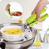 Edelstahl Anti-Hot Topf Pfanne Hot Dish Teller Schüssel Gripper Clip Safe Zange Carrier Holder Clamp Kitchen Tool Zufällige Farbauswahl