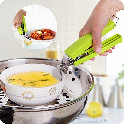 Edelstahl Anti-Hot Topf Pfanne Hot Dish Teller Schüssel Gripper Clip Safe Zange Carrier Holder Clamp Kitchen Tool Zufällige Farbauswahl Hot Dish