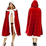 Hey~Yo Weihnachtsfrau Samt Umhang Mit Kapuze Rot Kostüm Cosplay Cape Kapuzenmantel Weihnachtsfeier