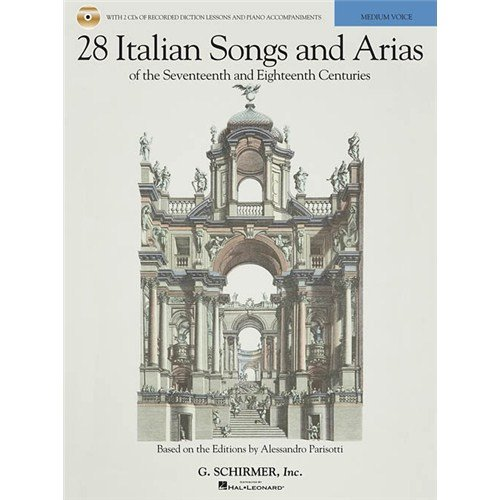 28 Italian Songs And Arias Of The 17th And 18th Centuries - Medium Voice (Book/Online Audio). Partitions, Downloads pour Voix Moyenne, Accompagnement Piano