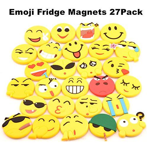 SLD Emoji-Kühlschrankmagnete, 27 Stück, PVC, für Kühlschrank, Weißwandtafel, Magnettafeln,...