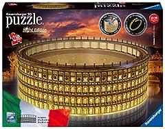 Idea Regalo - Ravensburger Colosseo Night Edition 3D Puzzle, Multicolore, 11148