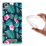 WoowCase ZTE Blade A452 Hülle, Handyhülle Silikon für [ ZTE Blade A452 ] Tropische Blumen 2 Handytasche Handy Cover Case Schutzhülle Flexible TPU - Transparent