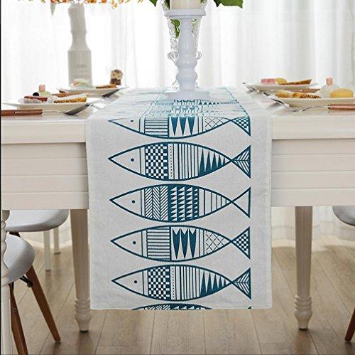 WYFC Tischläufer / Tischdecke Couchtisch Tuch. moderne und einfache Mittelmeer stilvolle Couchtisch Fernsehmöbel Abdeckung Tuch Flagge . a . 32*200cm